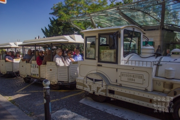 Cool vintage-looking train that will tour you around the area
